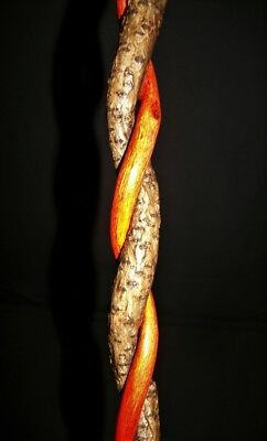 """15"""" Finished Curled Spiral Grape Vine Wand Witch Pagan Wizard Metaphysical"""