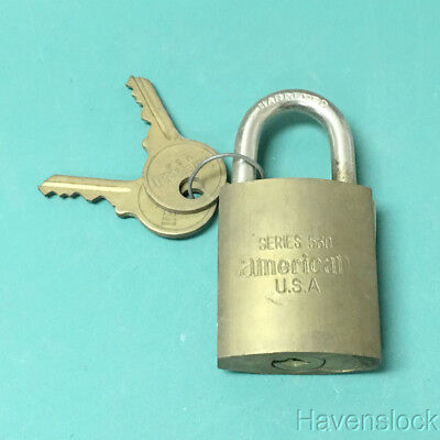 Vintage Series 530 Hardened Padlock with 2 keys, by American lock, USA