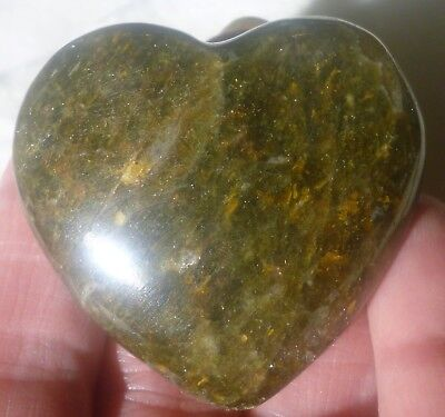 49.3 Gram OUTSTANDING Polished GREEN APATITE Gemstone Gemstone HEART