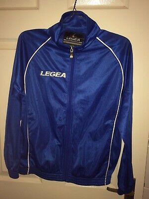 Legea Mens Xs Blue Long Sleeved Zip Fasten Tracksuit Top/Jacket (Ex Cond)