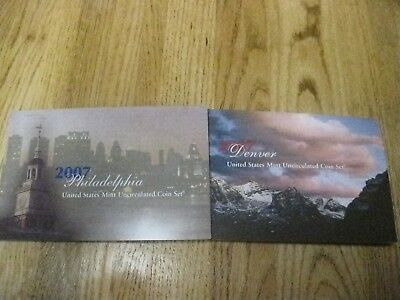 2007 P & D United States Mint Uncirculated Coin Set