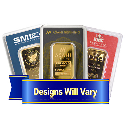 1 Troy oz Generic Name Brand Gold Bar .9999 Fine In Assay