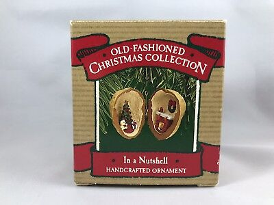 1987 Hallmark Ornament In a Nutshell Old-Fashioned Christmas Collection EUC