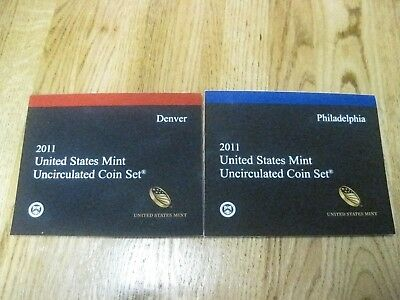 2011 Philidelphia & Denver US Mint Uncirculated 28 Coin Set