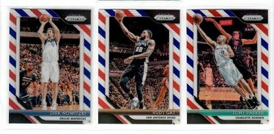 2018 19 Panini Prizm Basketball You Pick RED WHITE BLUE RC DIRK WALL GIANNIS ++