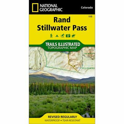 National Geographic Rand Stillwater Pass Trails Illus Topo Map - CO - Map #115