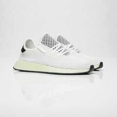 brand new 64b7a fadc9 Mens Adidas Deerupt Runner Running Shoes White  Black Sz 10 CQ2629