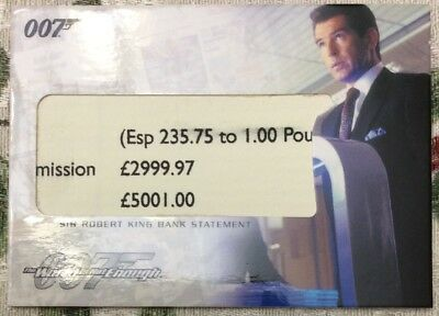 James Bond The Complete Relic Card RC7 Sir Robert King Bank Statement