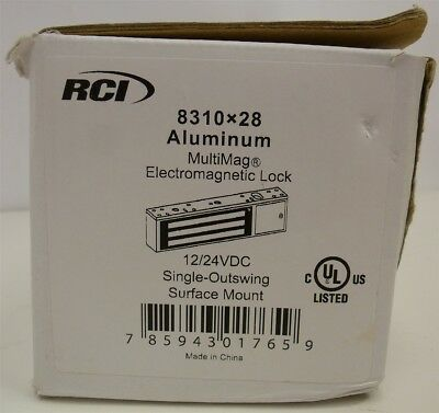 RCI 8310x28 Electromagnetic 8 Series 12 24 VDC Outswing Surface Mount Lock