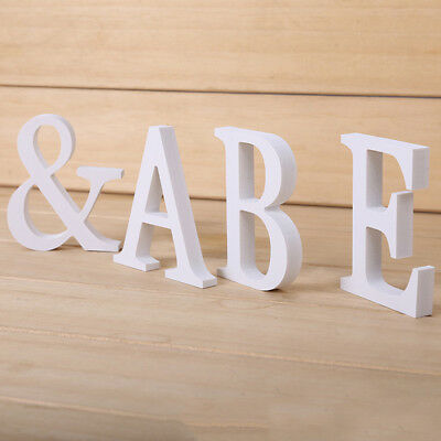 26 Large Wooden Letters Alphabet Freestanding For Wedding Party Home Decoration