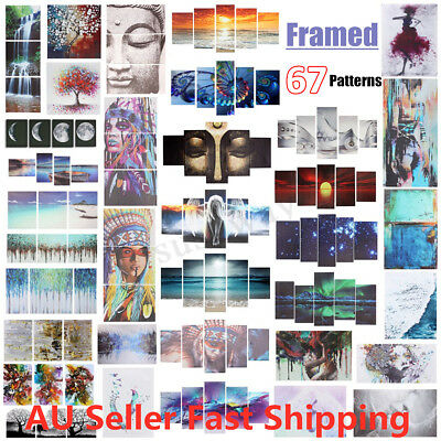 Set of 1/2/3/4/5 Canvas Prints Framed Wall Art Decor Painting Panels Home Office