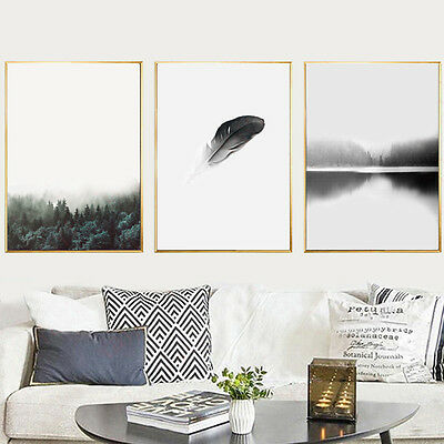 Wall Nordic Art Forest Canvas Poster Abstract Minimalist Painting Decoration