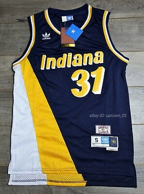 Reggie Miller #31 Indiana Pacers 1987-88 Rookie Throwback Jersey