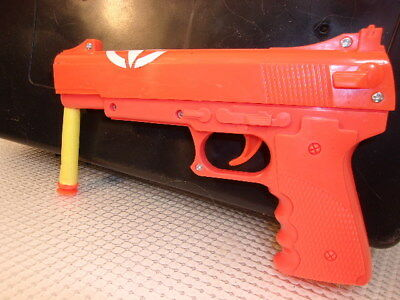 3 X safety orange blaze soft shell nerf type pistol