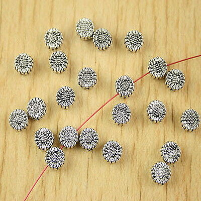 40pcs tibetan silver 9mm long spacer beads h0965