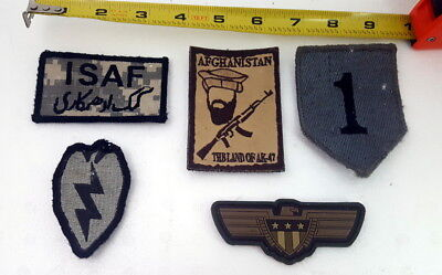 Lot of 5 US Military Army Uniform Unit and Morale Shoulder Patches