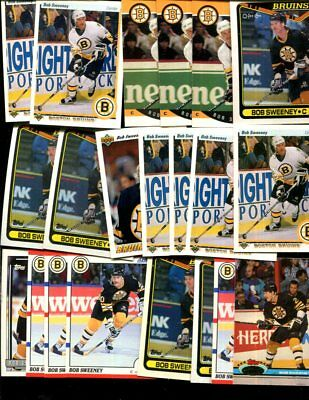 Bob Sweeney Bulk Lot Of 20 Hockey Cards  Boston Bruins Concord Massachusetts