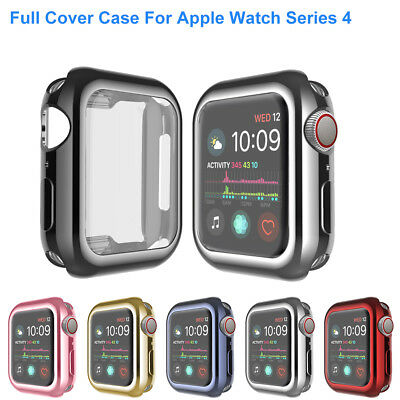 For Apple Watch Series 4 44/40mm Soft TPU Full Body Cover Case Screen Protector