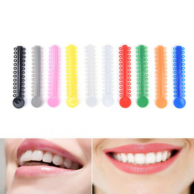 1040 ties Dental Orthodontic Elastic Ligature Ties Bands Elastic Rubber Bands-