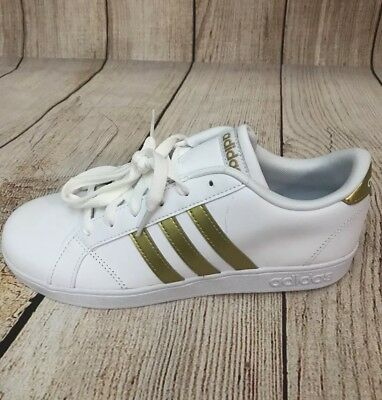 ADIDAS BASELINE K Gold/White Unisex Boys/Girls Shoes Size ...