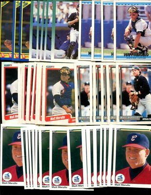 Matt Merullo   Bulk Lot Of 50 Baseball Cards White Sox Winchester Massachusetts
