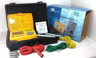 TES 1700 Digital Earth Resistance Tester Meter Measure Voltage DATA Hold+ Manual