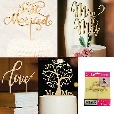 Rustic Wedding Wooden Mr&Mrs Letter Cake Topper Anniversary Decoration Gift Pack