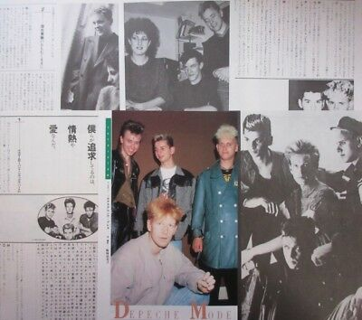 DEPECHE MODE Martin Gore Dave Gahan NEW ORDER 1985 CLIPPING JAPAN FM E8 10PAGE