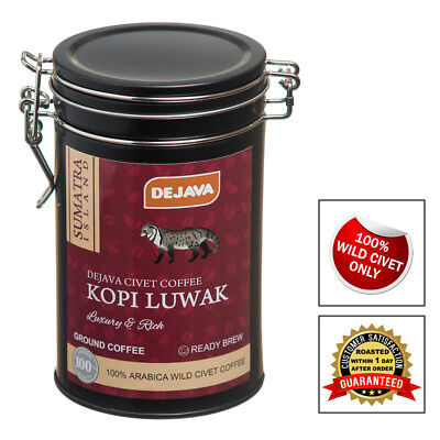 100% SUMATRA WILD CIVET CAT COFFEE KOPI LUWAK - GIFT SET 50g FRESHLY GROUND