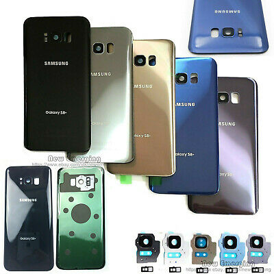 For Samsung Galaxy S8 S8Plus OEM Battery Cover Glass Housing Rear Back Door+Tape