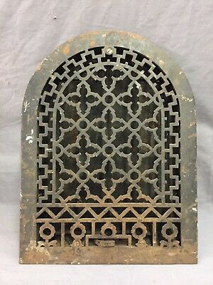 Antique Cast Iron Arch Gothic Heat Grate Floor Register 11X15 Vintage Old 40-19D