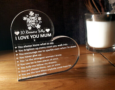 Personalised Valentines Day Gift Engraved Heart 10 Reasons Why I Love You
