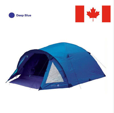 2Person Blue Double layer Waterproof Family Camping Hiking Instant Tent