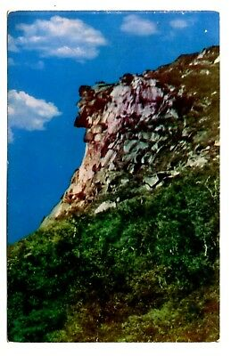 Old Man of the Mountains Postcard Franconia Notch New Hampshire Vintage 1955