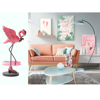 Resin Pink Flamingo Home Decorative Figurine Living Room Decor Gift