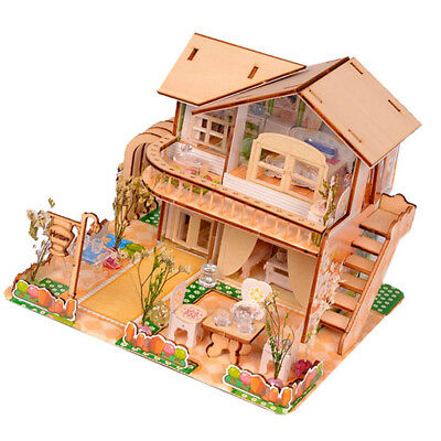 1:24 DIY Handcraft Miniature Project Kit My Little House Wooden Dolls House