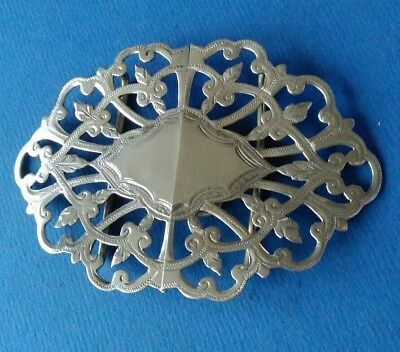 Silver Two Part Buckle. Birmingham 1902. By Samuel Hales.