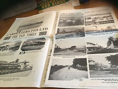 The Fiji Times old newspaper 1969 centennial issue with Supplement