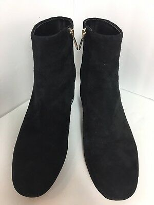 bf26336b627bd SAM EDELMAN EDITH Suede Mid Heel Booties Boots Black Size 6 New ...