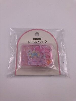 Sanrio Japan: Little Twin Stars Stickers With Plastic Case (AAA)
