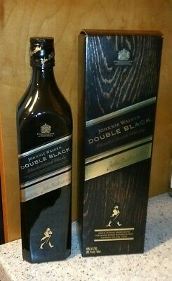 750 ml Johnnie Walker Double Black Scotch Whisky Whiskey Empty Bottle w Box