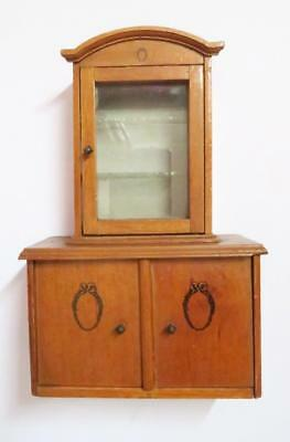 Vintage Dolls House Furniture Miniature Regency Style Bookcase Cupboard Handmade
