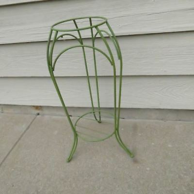Vtg MCM Painted Metal Cast Iron? Wire Plant Stand Flower Pot Shelf Frog Tripod