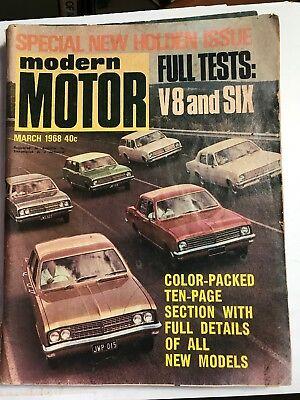Modern Motor Magazine Special New Holden Issue. 1968.  HK Free Post