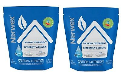 NORWEX Laundry Detergent 2 Bags! 2.2 Lbs Per Bag. Brand New! Fast Free Shipping!