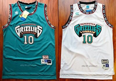 54a9d733de2 Mike Bibby  10 Vancouver Grizzlies 1998-99 Throwback Jersey - Green   White