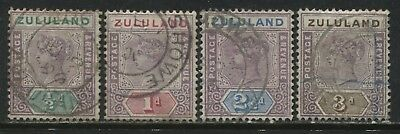 Zululand QV 1894 1/2d to 3d used