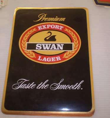 Great old beer sticker- LARGE  33CMS HIGH For the mans shed  EXPORT SWAN LAGER