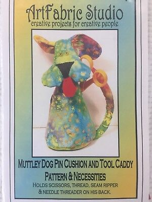 Muttley Dog Pin Cushion and Tool Caddy Patterns & Necessities - Hold Scissors, t