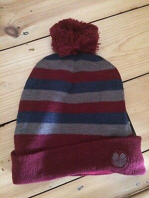 208c815e00d Palm Grove Micro Fleece Lined Wooly Hat Beanie Golf Very Warm Burgundy